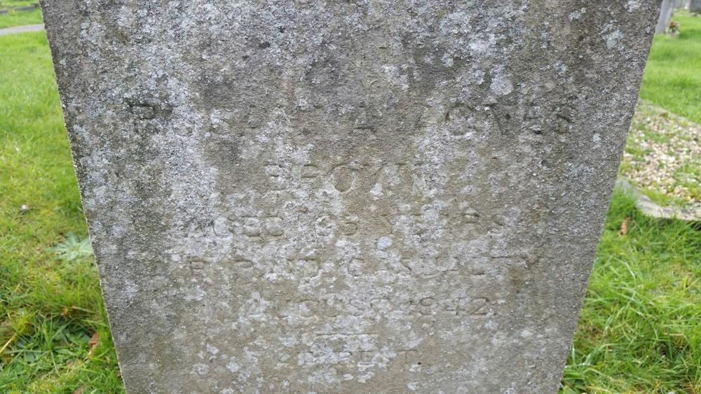 Roseanna Agnes Brown, gravestone, died aged 65, Severalls Hospital Air Raid Victim