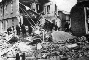 A number of buildings were damaged in the WW2 air raid of Colchester, August 1942.