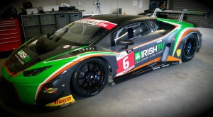 Barwell Motorsport Lamborghini Huracan GT in garage Snetterton