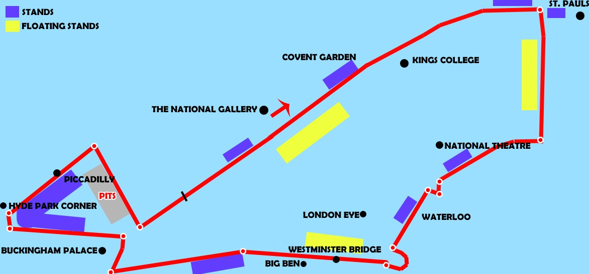 My proposed 2017 London GP route