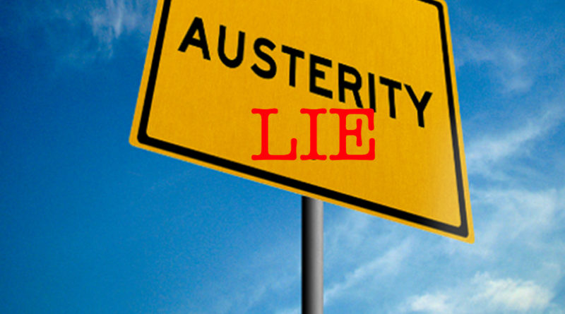 Austerity is a Lie roadsign