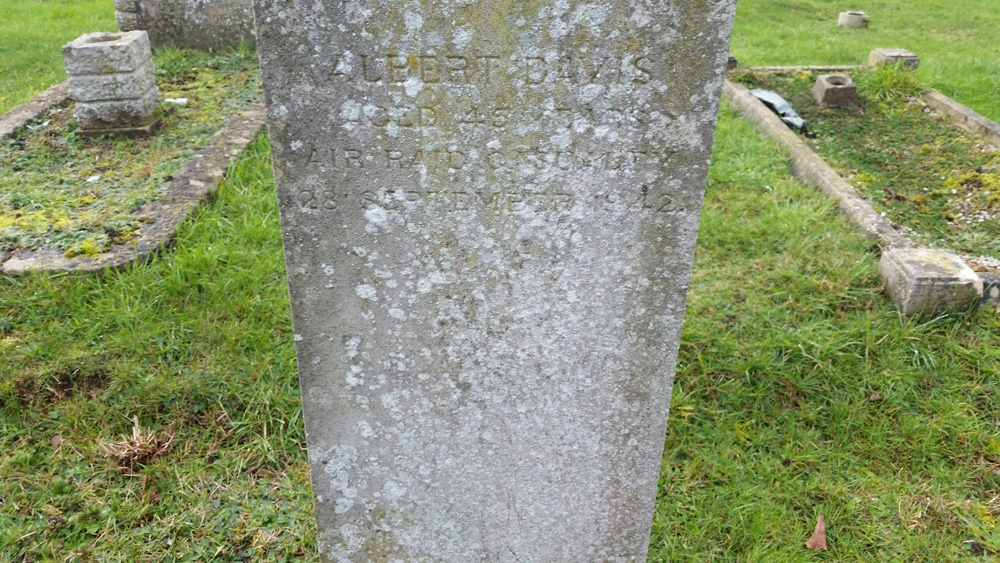 Albert David died in Colchester on September 1942 as the result of an air raid unconnected to the raid at Severalls Hospital