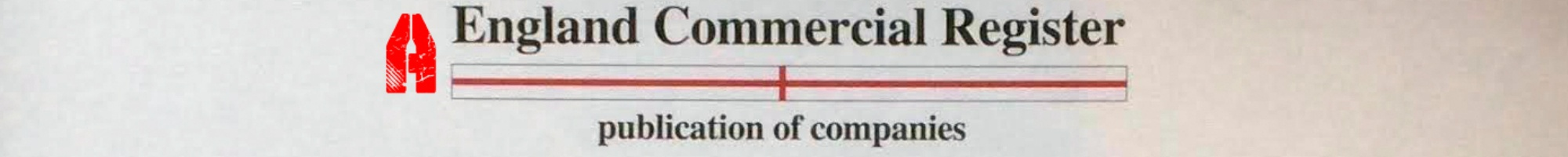 England Commercial Register