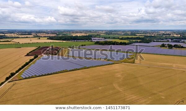aerial solar farm