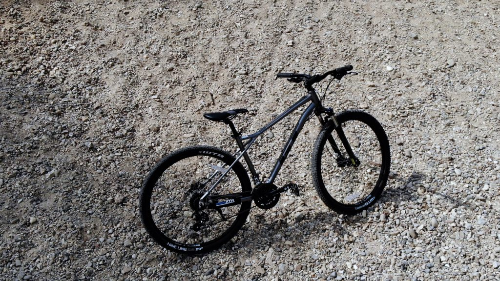 The GT Aggressor Expert in a gravel pit